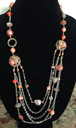 Necklace of the Month-Shar necklace with carnelian and vintage elements.