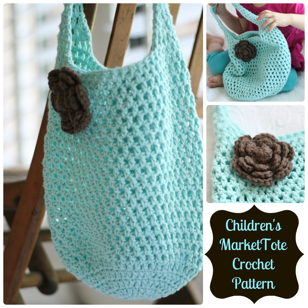 Crochet Tote Bag Free Pattern : Daisy Cottage Designs: Free Market Tote Crochet Pattern