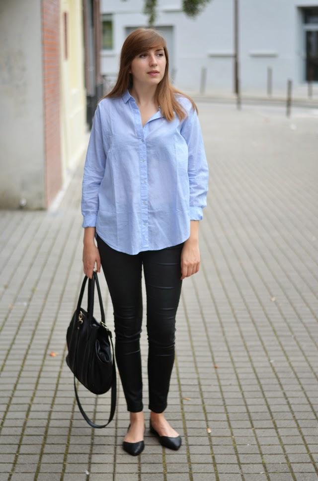 chemise bleue loose