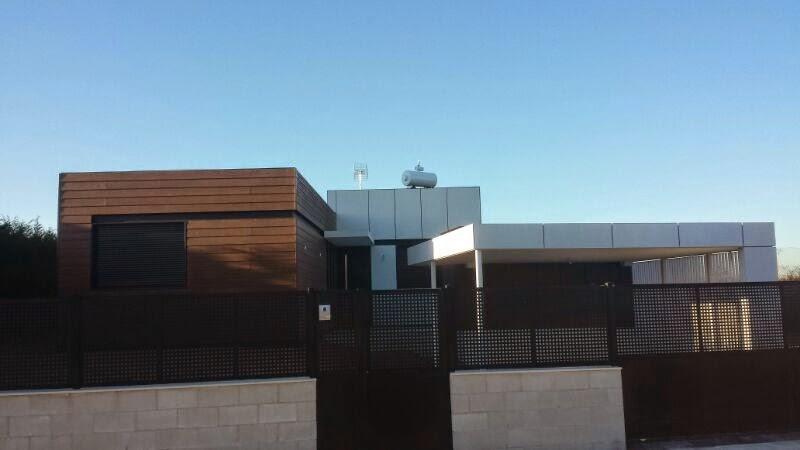 Vista exterior vivienda modular Resan