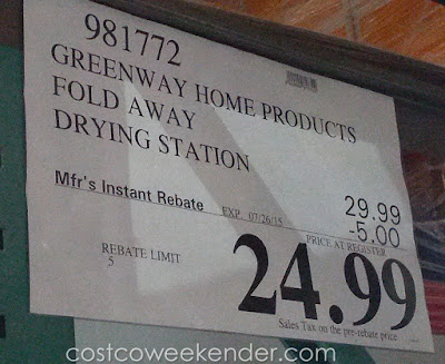 Deal for the Greenway Stainless Steel Indoor/Outdoor Drying Center with Extendable Overhead Bars at Costco