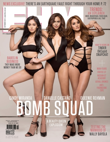 Majalah FHM Philippines Edisi Oktober 2015 - Three Queens (Cindy Miranda, Dani Castaño and Queenie Rehman) Download Majalah FHM Philippines 2015 | www.insight-zone.com