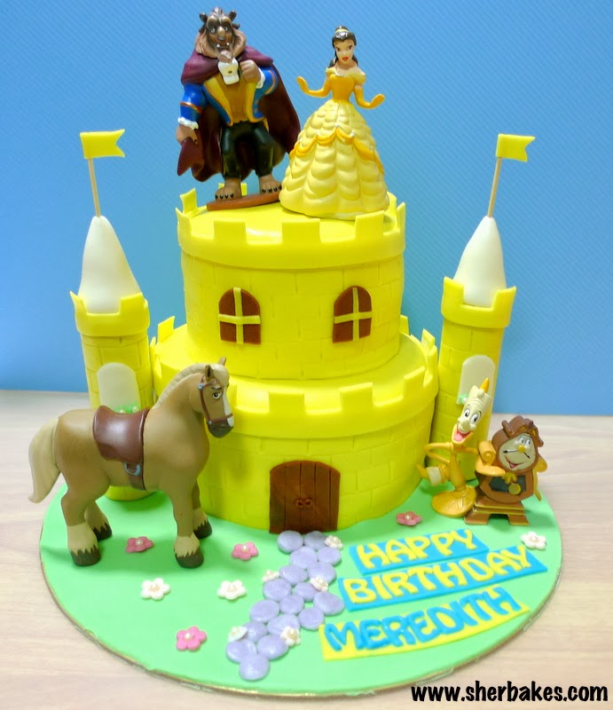 Sherbakes Beauty and the Beast Castle Cake