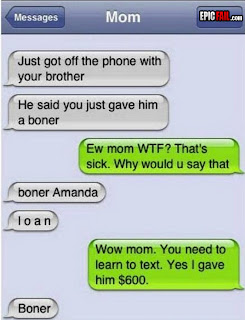 sister gives brother a boner funny fail autocorrect text
