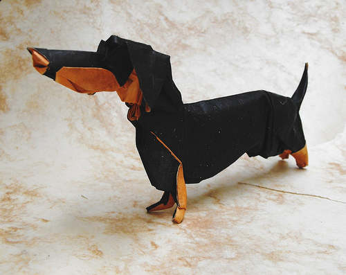 how to make a origami dog with body