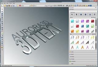cara menggunakan Aurora 3d text logo maker