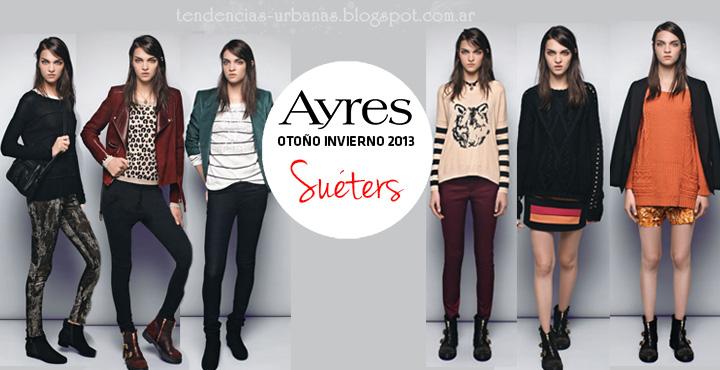 Suéters de moda invierno 2013 Ayres