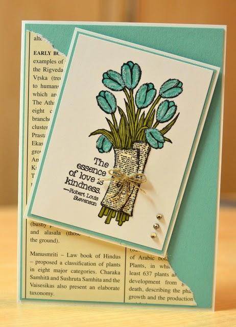 Atelier Meruru Handmade Basket : Janb handmade cards atelier tulips in newsprint