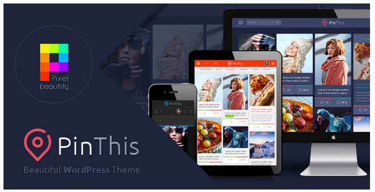 PinThis Pinterest WordPress Theme