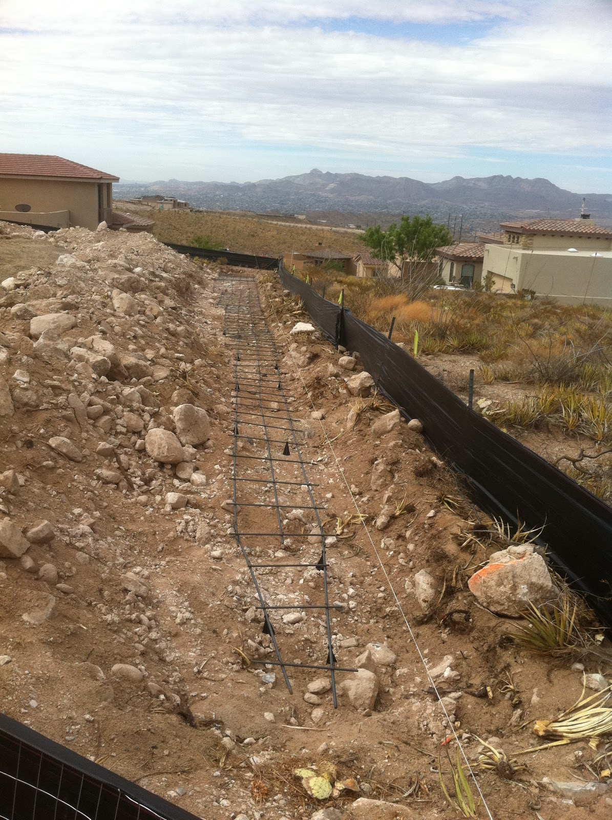 Myers Residence Retaining Wall Footings 2