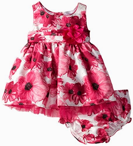 Sweet Heart Rose Baby-Girls Infant Floral Printed Shantung Occasion Dress