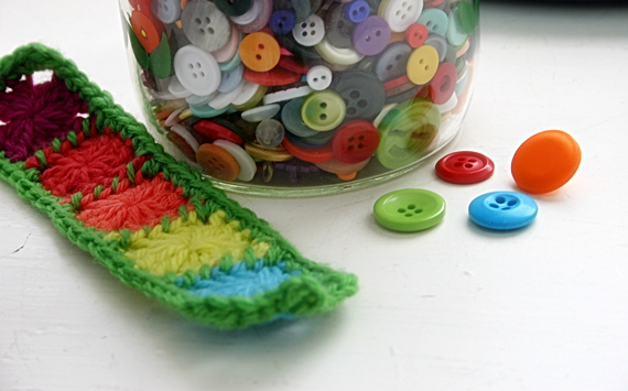 Felted Button Colorful Crochet Patterns Free Crochet Pattern