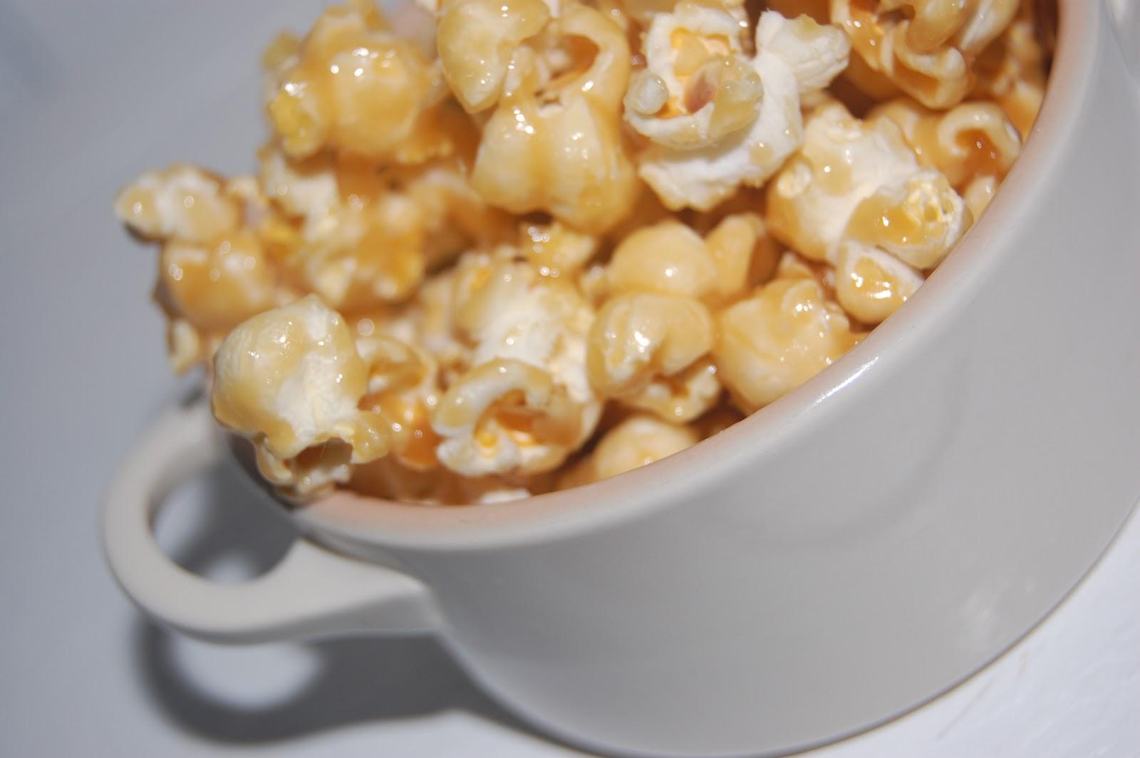 popcorn med socker