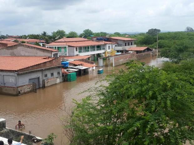 Distrito de Jorrinho, na cidade de Tucano, Bahia. Foto tirada no sábado (23) (Foto: Luan Souza/VC no G1)