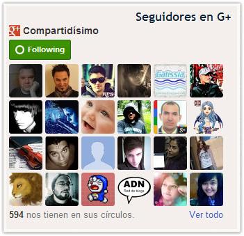 Gadget de seguidores de Google+