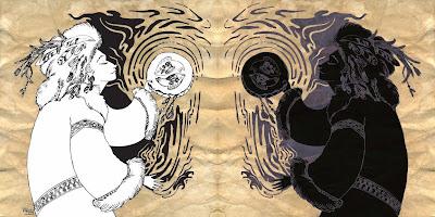 шаманский рунический амулет
