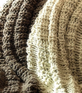 Copycat Pottery Barn Wesley Throws Blankets Knitting Pattern Copycat Design...