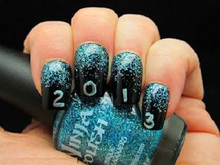 Uñas Pintadas, Diseños Faciles para Año Nuevo