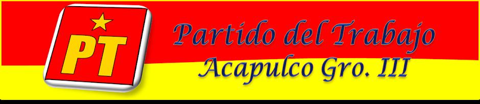 PARTIDO DEL TRABAJO ACAPULCO GRO. III