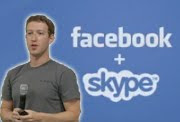 Facebook-Skype video chat