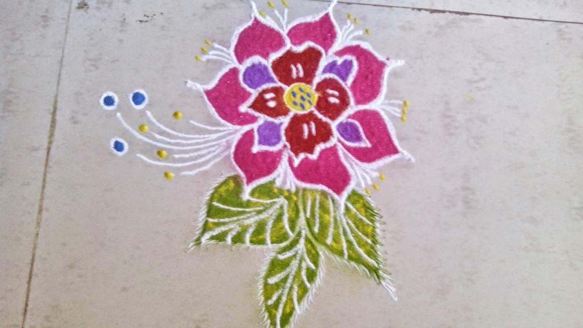 Kids Rangoli Designs 11