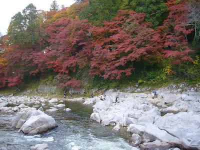 愛知県・香嵐渓の紅葉(巴川)