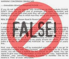 a picture of information that indicate it is false about Obama Care