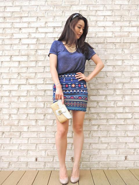 tribal skirt from Forever 21