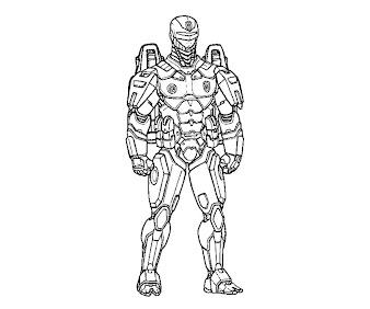 #3 Robocop Coloring Page