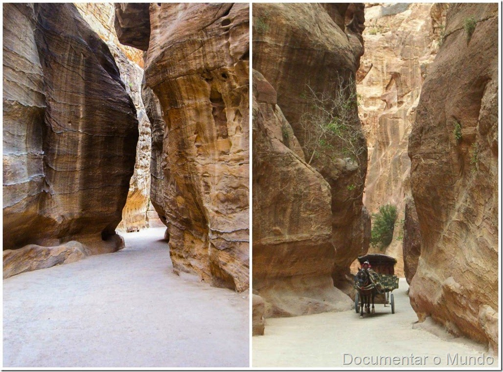 Siq, Petra, Jordânia; The Treasury; Canyon; Jordan