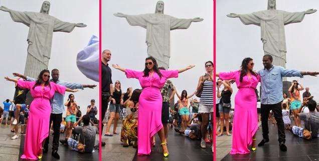 Kim Kardashian, Kanye West Pose As Jesus