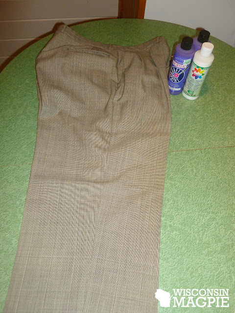 grey suit pants before painting
