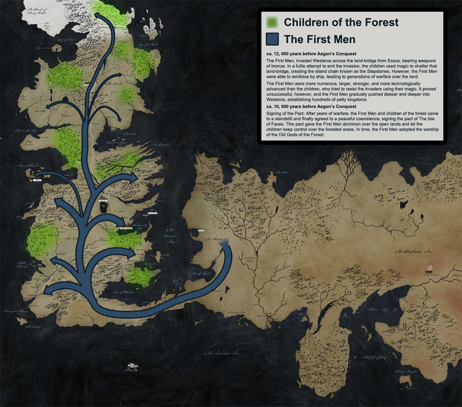 Mapa Game of Thrones - hotbrownDoubleDouble