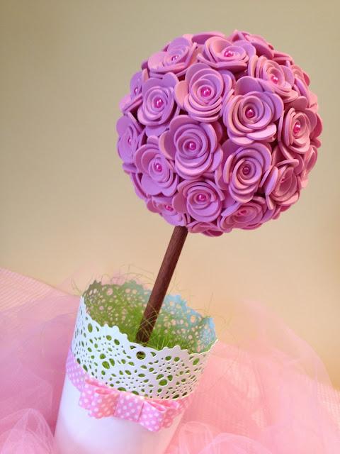 topi ria   flores em eva gracinhas artesanato