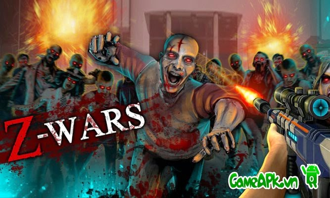 Z-Wars – Zombie War v1.0.3.1 hack full tiền cho Android