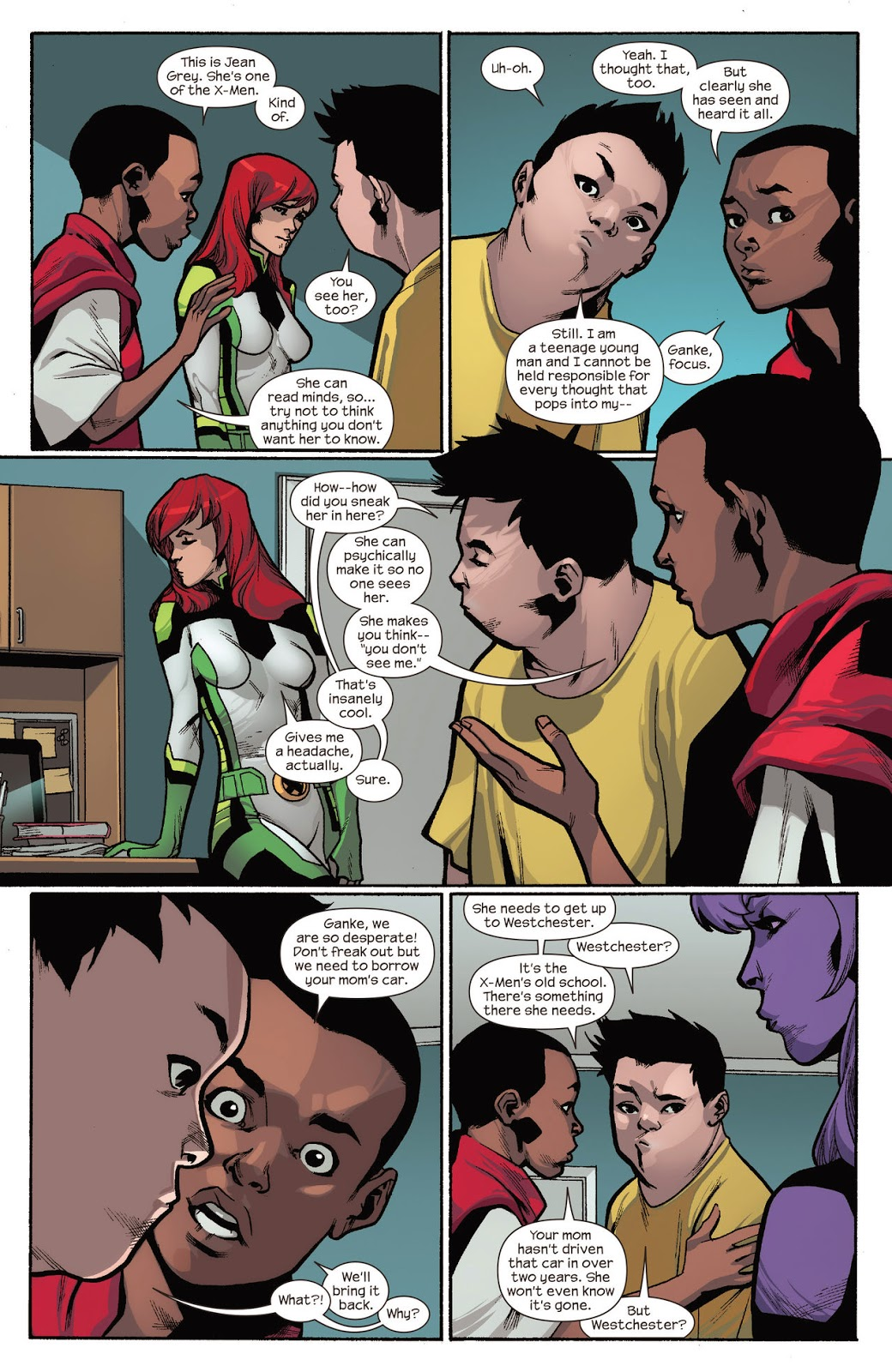 Jean Grey and Miles Morales seek help