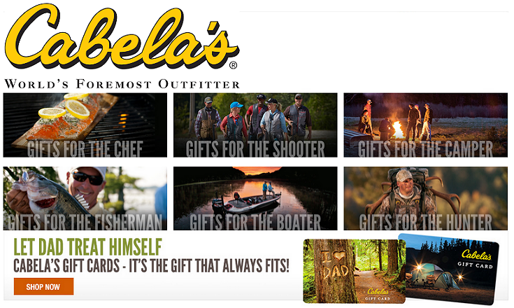 Cabela's Father's Day Gift Guide 2015