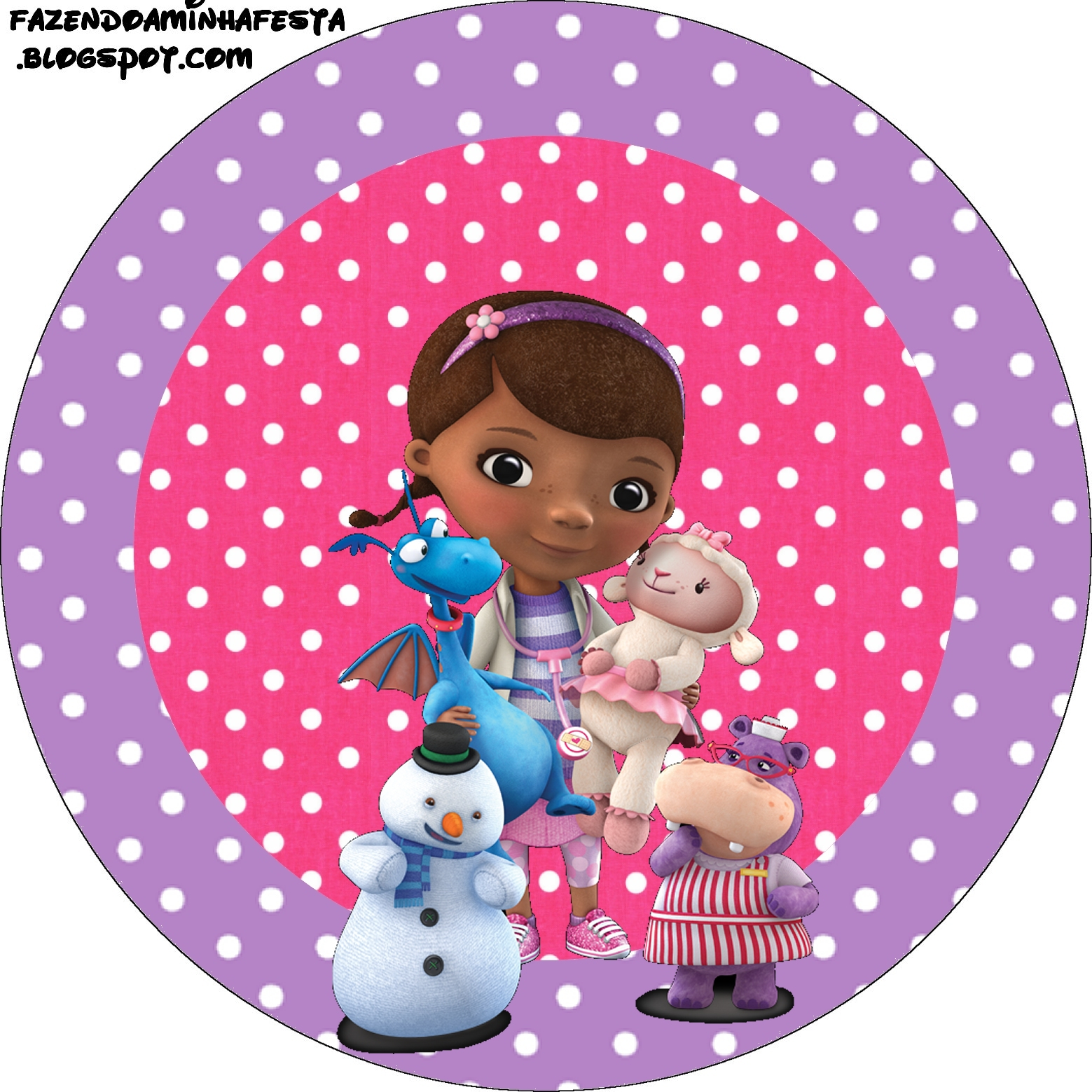 This is a photo of Challenger Doc Mcstuffins Party Printables