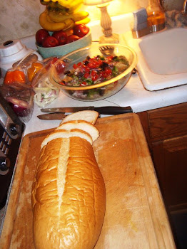Fresh Bread with Salad