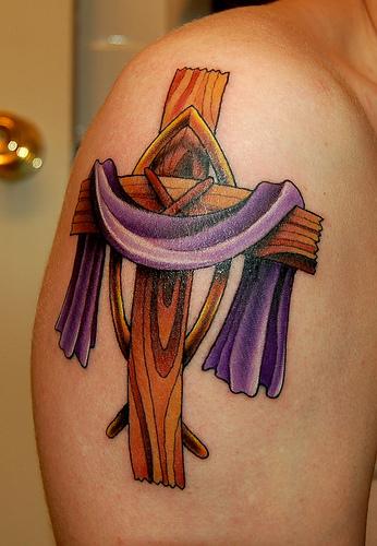 cross tattoos on arm