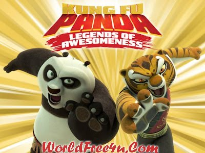 Poster Of Kung Fu Panda Legends of Awesomeness (2011) In Hindi English Dual Audio 100MB Compressed Small Size Pc Movie Free Download Only At worldfree4u.com