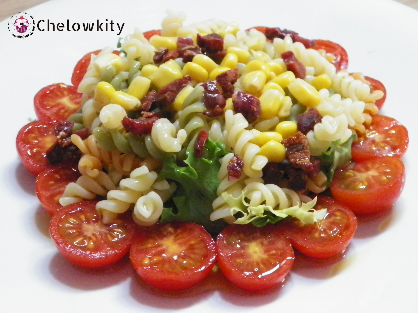 Chelowkity ensalada de espirales con crujiente de jam n - Ensaladas gourmet faciles ...