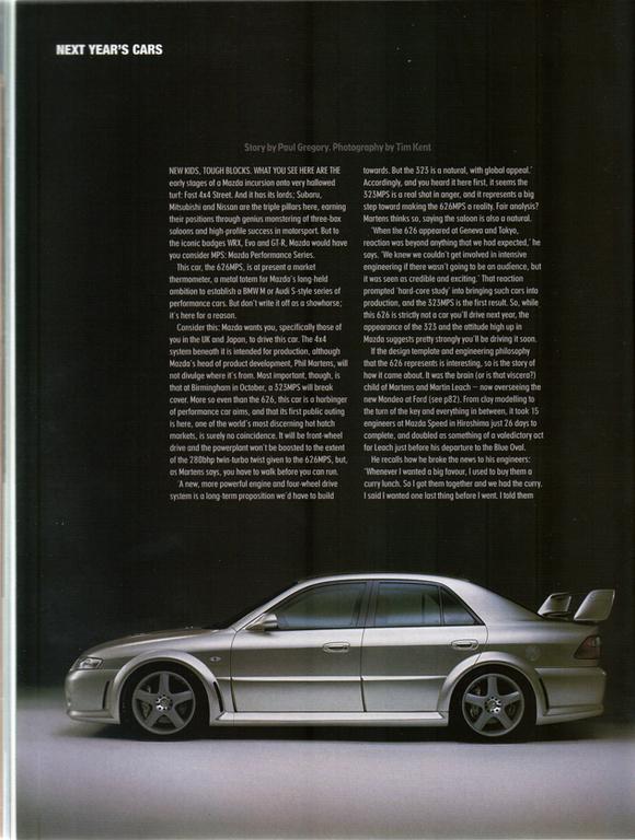 Mazda 626, Capella, GF, MPS, japońska motoryzacja, prototyp samochodu, sportowe auto, JDM