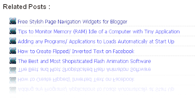 unique stylish related post with icon for blogger