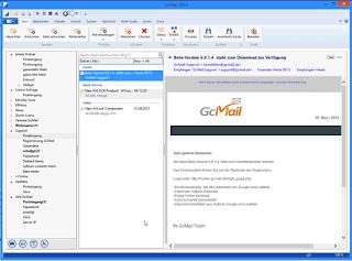 GcMail E-Mail Client Screenshot