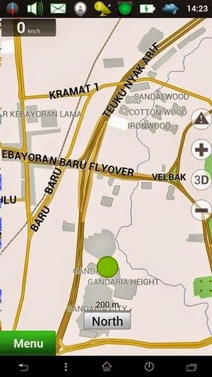 Tampilan GPS Android Navitel Navigator