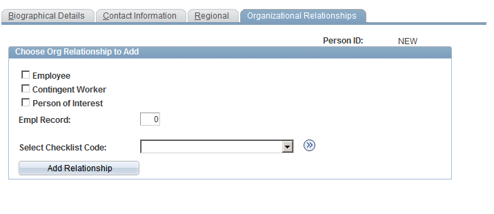 How to add Organizational Relationship in PeopleSoft