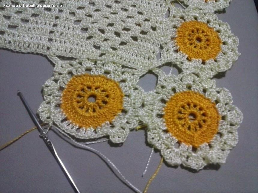 Artesanatos em Crochê Vanda: PASSO A PASSO CAMINHO DE MESA