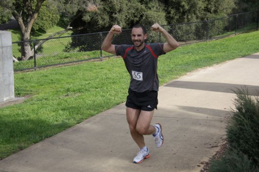 Running in the Coburg Harriers Half Marathon