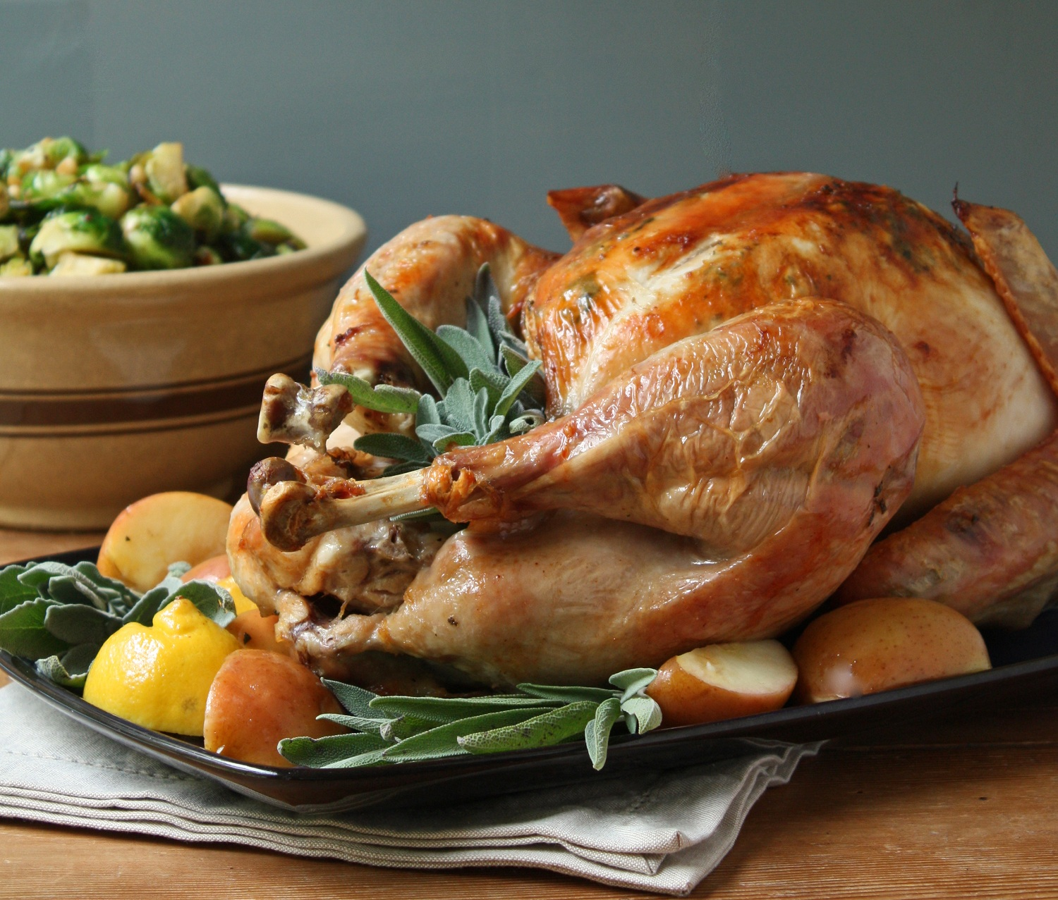 Easy Roasted Turkey w/ Sage Butter - I Breathe... I'm Hungry...
